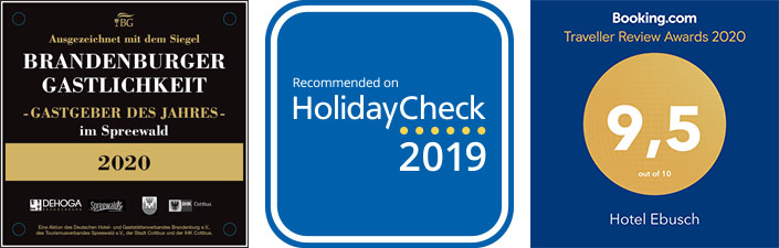 Brandenburger Gastlichkeit, Recommended on HolidayCheck, Booking.com Traveller Review Awards 9,5 out of 10